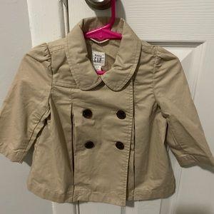 Girl's Baby Gap Khaki Spring Jacket